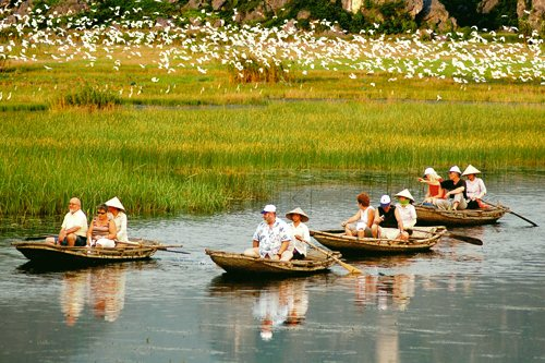 Van Long eco-tourism. Photo: Luong Xuan Lam